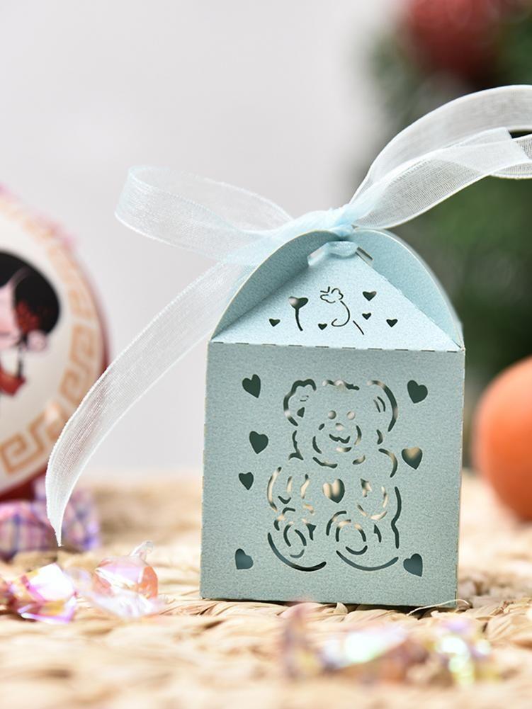 50PCS Valentinstag-Süßigkeit-Geschenk-Kasten Love Bear Engel Süßigkeit-Kasten-Hochzeits-Süßigkeit Schokoladen-Kasten für Hochzeit Valentinstag