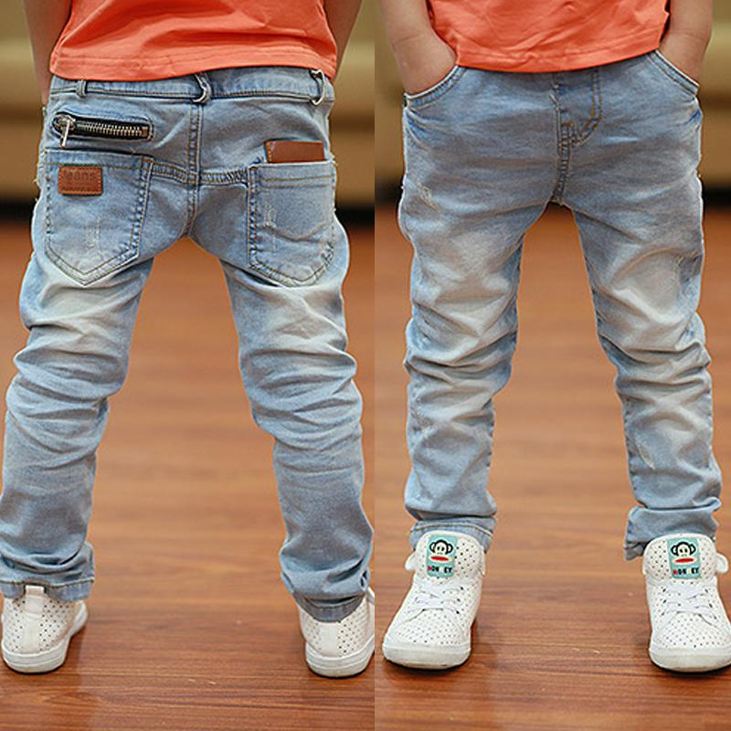 Boys Jeans Newest Style Light-color Soft Denim Trousers 2019 Spring Autumn Fashion Kids Jean For Age 3 To 13 Years Old B135 Y19051504