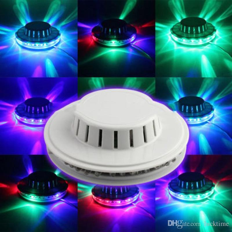 Sunflower stage light Portable mini UFO light 48 LED music Laser Stage Lighting Auto sound active stage effects Party Wedding Club lamp