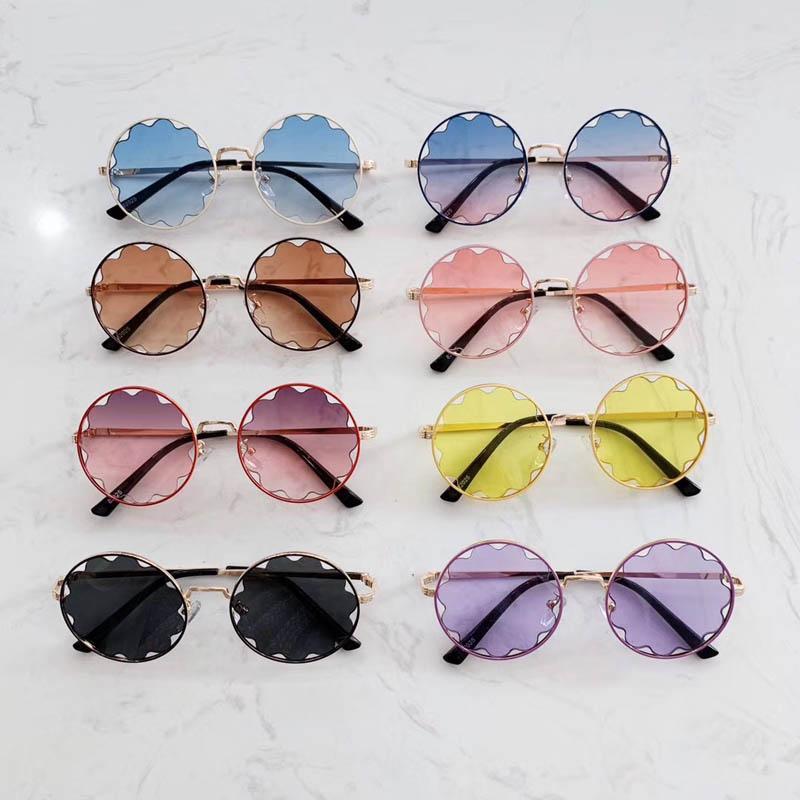 Moda moda bambini bambini fiore resina designer ragazze occhiali da sole occhiali da sole occhiali da sole occhiali corea A6281 accessori ragazza wnckc