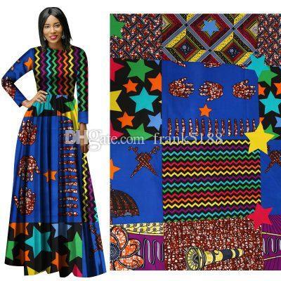 파티 드레스 패션 앙카라 아프리카 폴리 에스테르 왁스 인쇄 패브릭 Binta 리얼 왁스 높은 품질 6야드 아프리카 직물