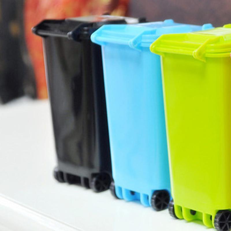 Vente chaude ordures seau coloré Poubelle et recyclage de haute qualité Mini Boîte de rangement porte-stylo pour la maison ou en plein air