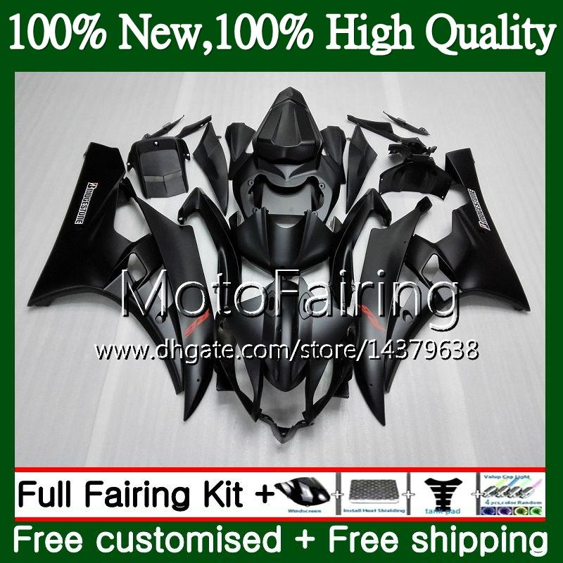 Cuerpos Para YAMAHA YZF R 6 YZF 600 Mate negro YZF-600 YZFR6 06 07 Bastidor 90MF6 YZF R6 06 07 YZF600 06 YZF-R6 2006 2007 Fairing Bodywork Kit
