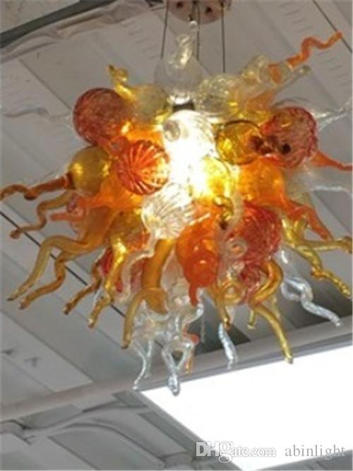 Mini lampadari colorati luminosi 100% Handmade Murano Blown Art Glass Crystal Pendant Lamps per la decorazione domestica
