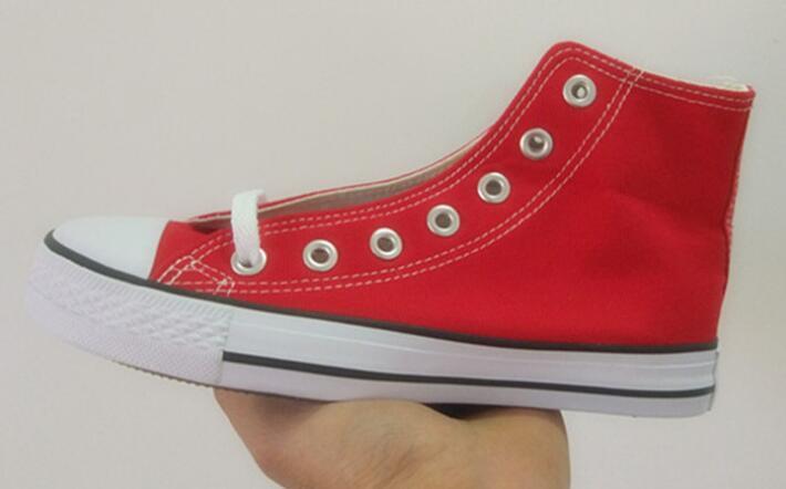 O transporte da gota Marca Novas 15 cores todo o tamanho 35-46 sapatos High Top Low Top Classic Canvas transporte das mulheres dos homens Sneakers calçados casuais grátis