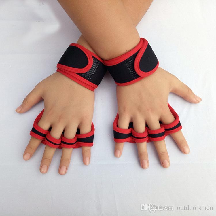 1 Paire Gants De Gymnastique Haltérophilie Gants De Formation Femmes Hommes Fitness Sport Body Building Gymnastique Grips Gym Main Palm Protecteur