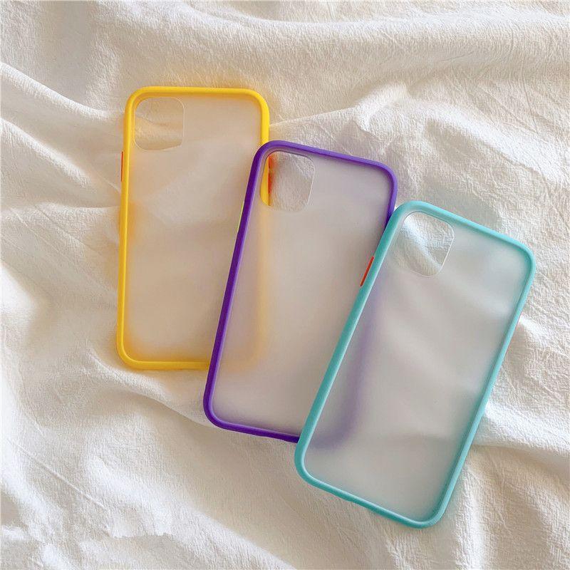 Hybrid Mint Einfache Matte Auto-Telefon-Kasten für iPhone 11 Pro Max XR XS Max 6S 8 7 Plus-Stoß- weiche TPU Silikon
