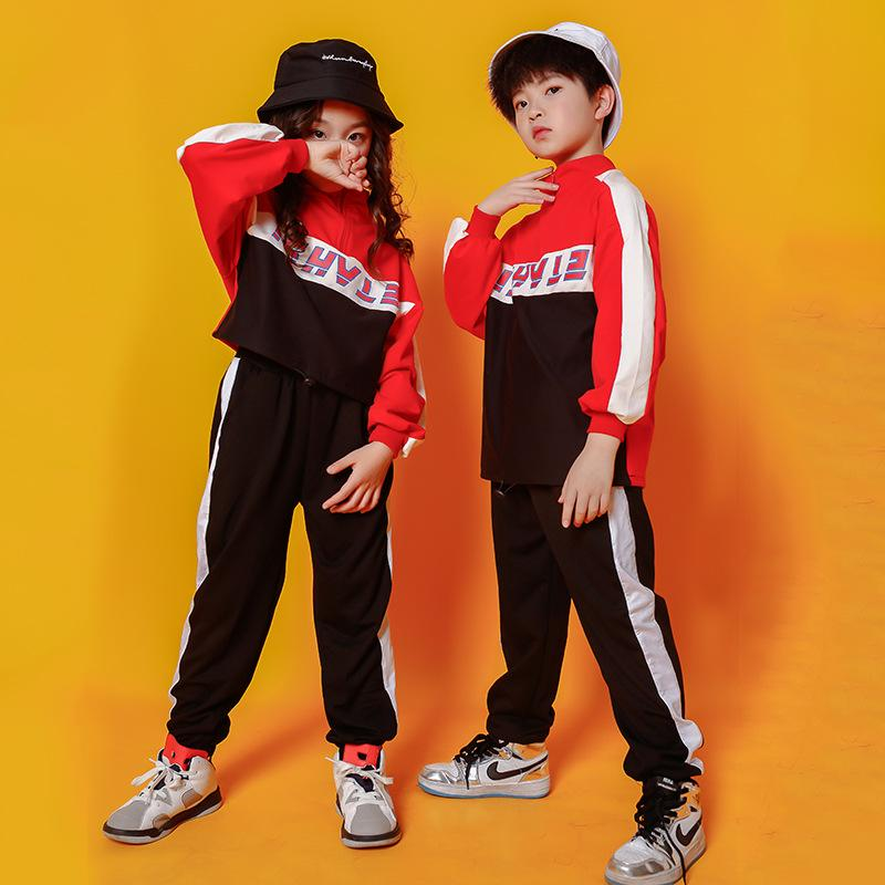 34 Children Hip Hop Clothes Kids Dancing Costume for Girls Boys Jazz Dance Ballroom Competition Concert Stage Outfit Streetwear