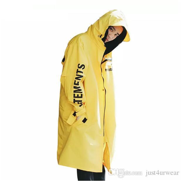 Mens High Street Rain Coat Jacket Water-Proof Солнцезащитный Ветровка женщин вскользь Сыпучие тавра Outwear с длинным рукавом Tops