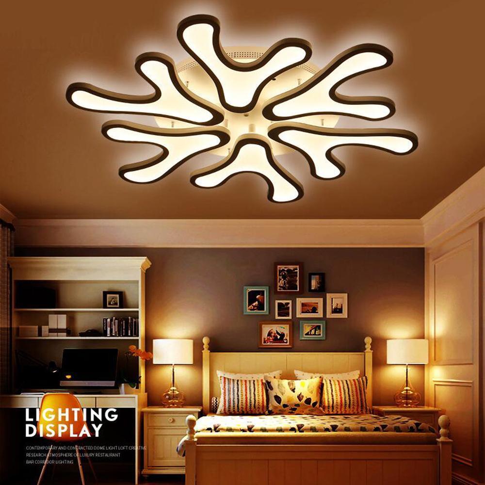 FULOC Akrilik modern oda yatak odası aydınlatma armatürleri yaşamak için tavan ışıkları açtı