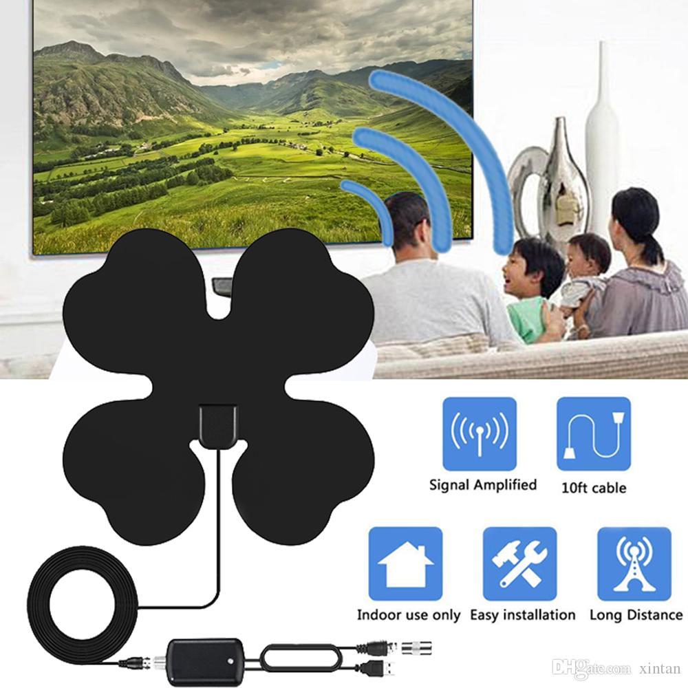 HD 4K interior de TV Radio Antena HDTV digital de surf Televisión Fox antena DVB-T DVB-T2 con amplificador de señal