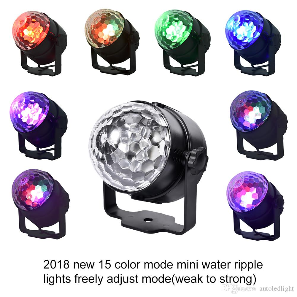 15 color LED crystal small magic ball light mini stage light for weddings birthday parties Christmas bars karaoke bars
