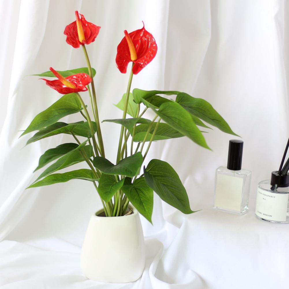 1Pc fiore artificiale Calla Table Office Home Garden fase decorazione del partito fai da te