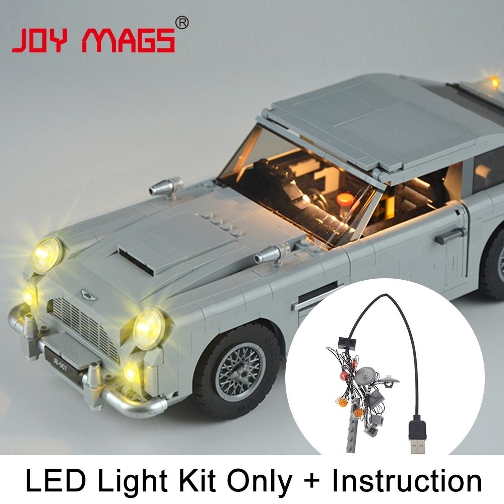 Joy Mags Led Kit (مجموعة فقط) لـ Creator James Bond Aston Martin Db5 Light Set المتوافقة مع موديل 10262 Q190521