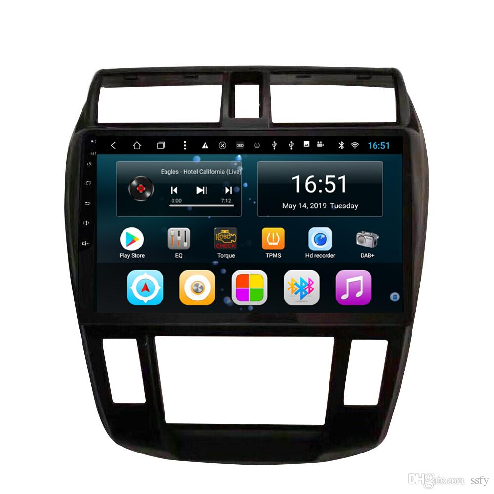 Android 10.1inch 8-core for Honda city HD car GPS multimedia player support you set any wallpaper Wifi head Unit