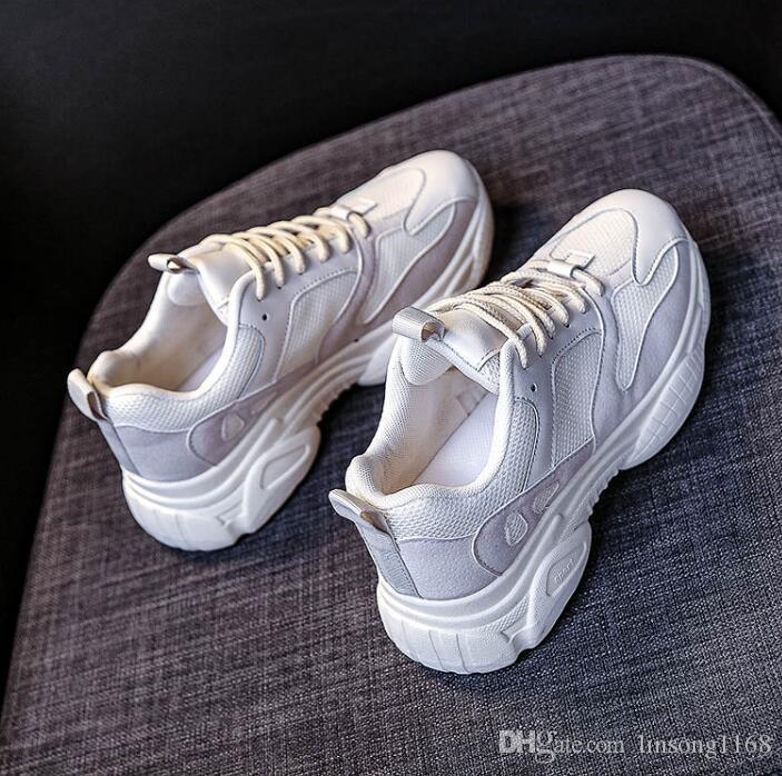 Moda primavera / verão sapatos nova instins pai para estudantes meninas em todos os lugares plataforma, altura, esportes respirável sapatos casuais para meninas