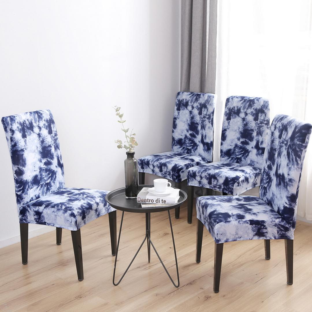Removable Chair Covers Flower Printing Stretch Elastic Slipcovers Restaurant For Weddings Banquet Folding Hotel Chair Covering Cheap Dining Room Chair