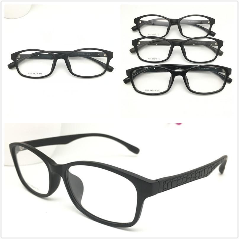 الجملة TR-90 البلاستيك نظارات الإطار أزياء الرجال بصري قصر النظر وصفة واضحة الحاسوب النساء السود نظارات إطار نظارات 9102