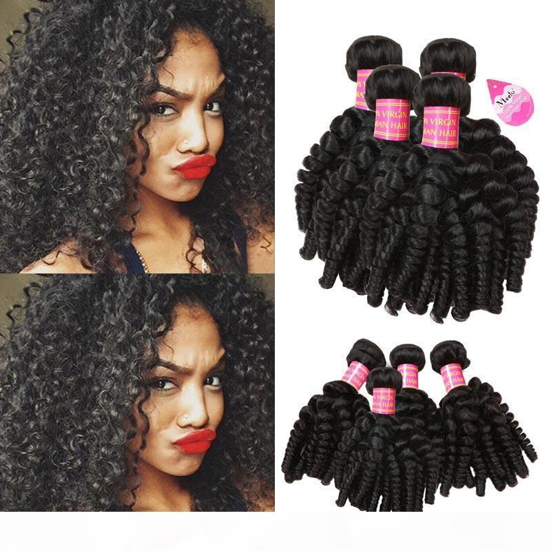 8A Brazilian Bouncy Curls Weave Virgin Aunty Funmi Human Hair Weave 4 Bundles Romance Loose Wave Curls Remy Human Hair Extensions