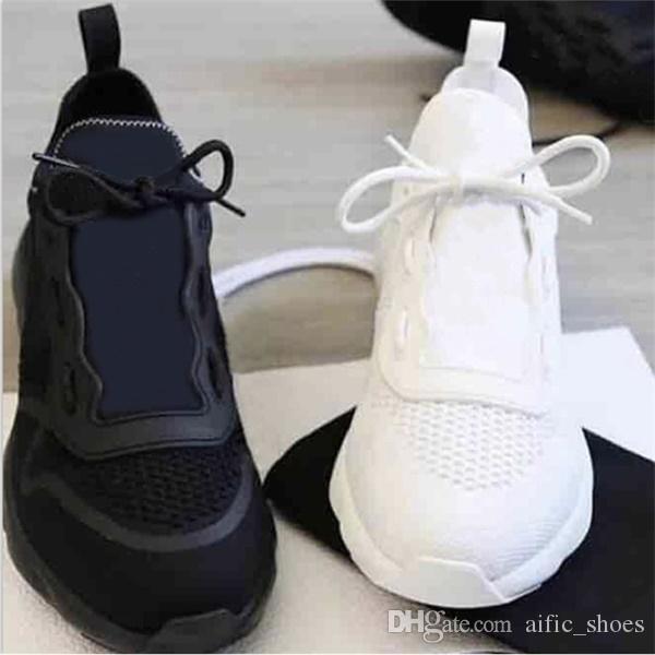 Designer Shoes B21 NEO zapatilla de deporte de los hombres de lujo de punto Negro Blanco Técnica zapatillas blancas Escombros inferior zapatilla de deporte respirable baloncesto con la CAJA
