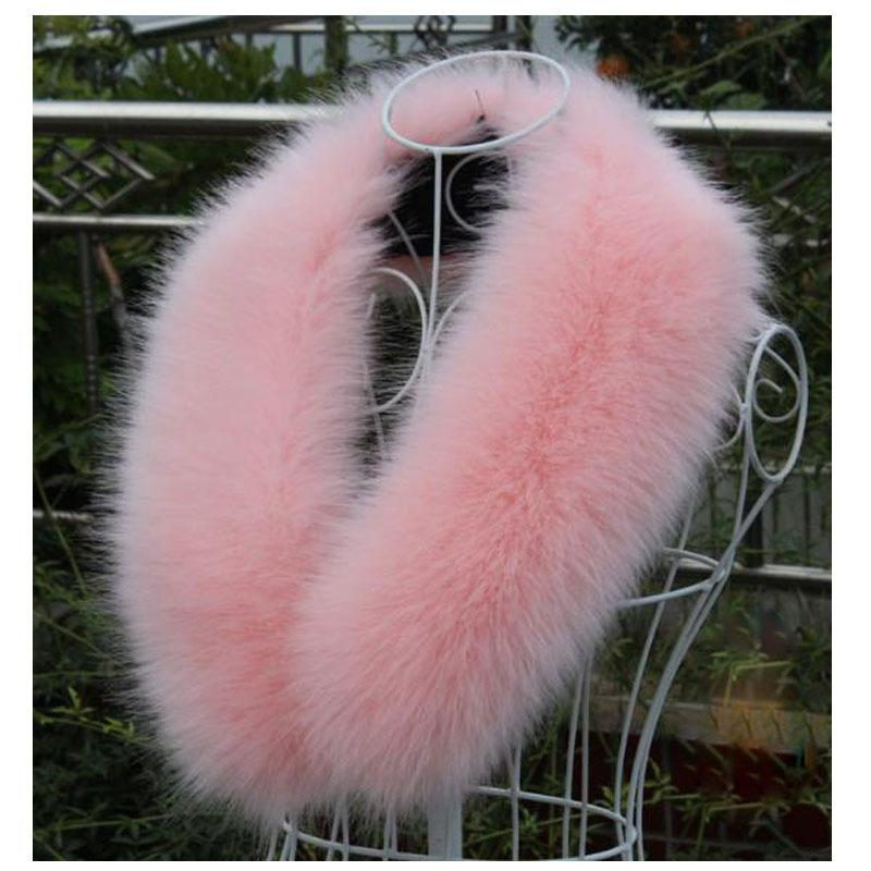 New arrival women's Faux fur collar faux raccoon fur scarf women men jacket hood fur collar decor fashion muffler WME03 D19011004