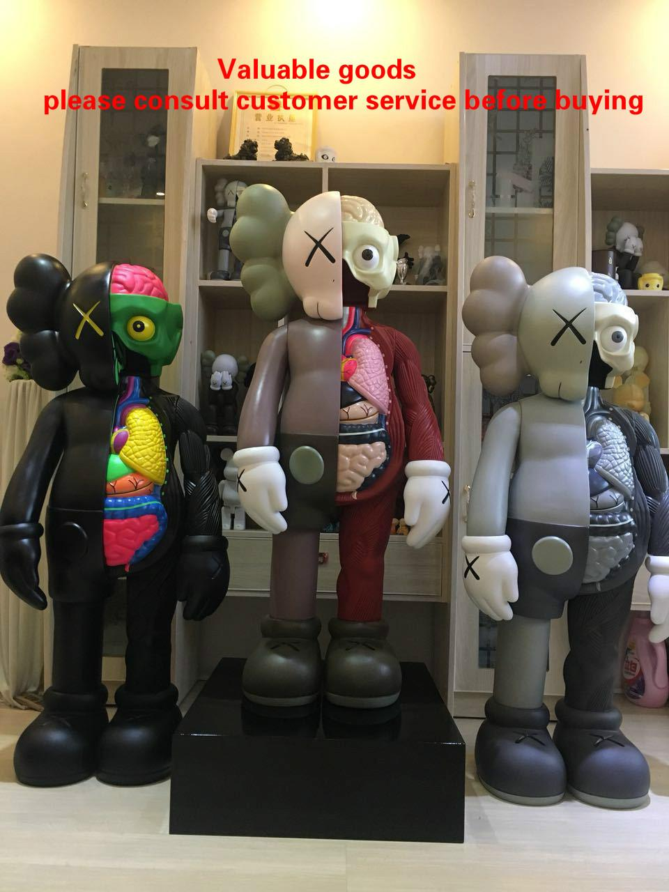 KAWS Action Figures 4FT DISSECTED 1.3m anatomy Large figure doll Exquisite workmanship Joints can move Vinyl material free fast shipping