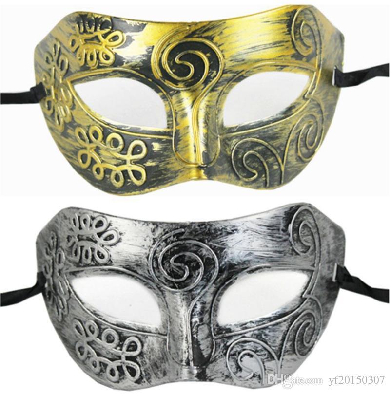 Masquerade Ball Masks Plastic Maschera cavaliere romano Maschere maschere e maschili per donna Bomboniere per feste Dress Up