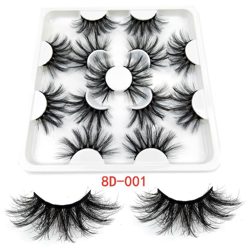Новые 7 пар 25 мм поддельные норковые ресницы накладные ресницы естественный драматический объем наращивание ресниц поддельные ресницы макияж инструмент
