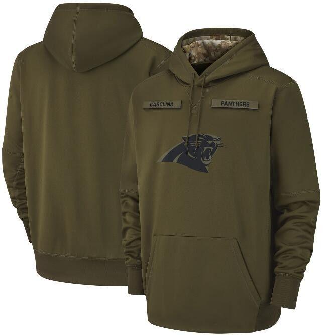 super popular fa034 44940 2018 Men Carolina Sweatshirt Panthers Salute To Service Sideline Therma  Performance Pullover Hoodie Olive Size S 3XL UK 2019 From Hellomicki, UK ...