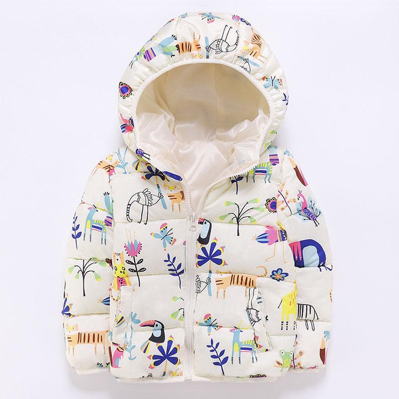 Девушки Parka 2019 Зимняя куртка для девочек Детского утепленной куртки для девочки проложенных Cute Kids Warm Куртка с капюшоном Верхней одежды Coat 2 4 6Yrs
