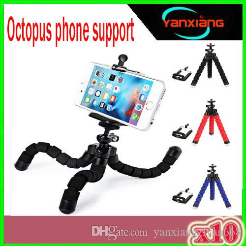 Car style mobile phone holder flexible octopus tripod bracket selfie stand mount manfrotto support For iPhone XIAOMI camera 10PCS ZY-ZJ-0