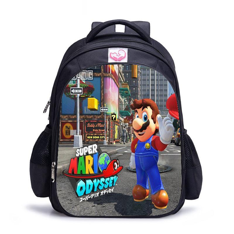 "Odyssey Odyssey Super Mario Large School Backpack 16/"" Boys Book Bag"