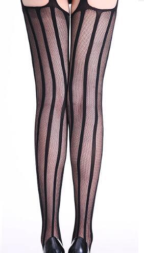 meias sexy quatro lados aberto virilha sexy roupa interior oco liga jacquard collants malha grande arrastão Europa e América