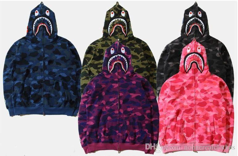 Neuen Männer Frauen Lovers Sportwear Coat Jogger Anzug Zipper Fleece Sweatshirt Crewneck Vogel OVO Drake Black Hip Hop Hoodie Männer Shark Mund