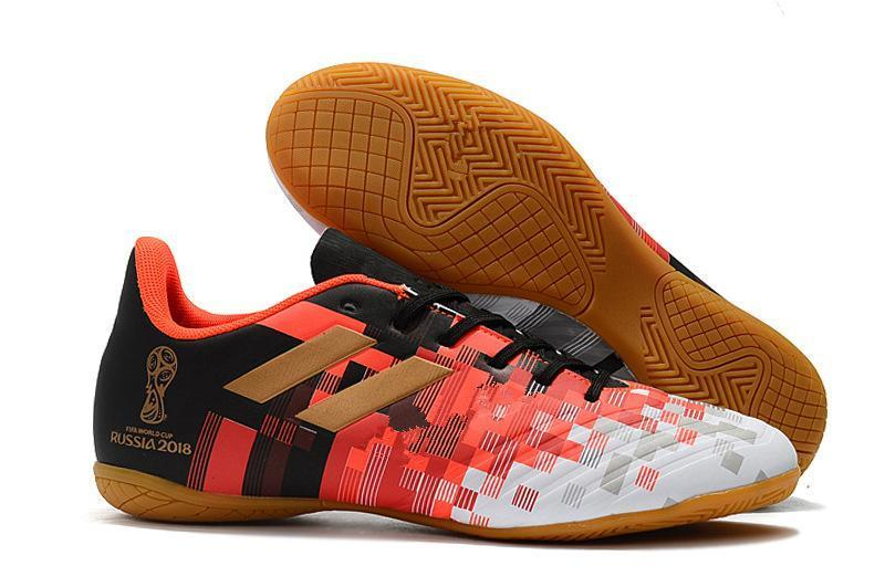 New Arrival Mens Soccer Cleats Low Ankle Predator Tango 18.4 TF Indoor Soccer Shoes IC Football Boots Messi Tacos De Futbol Orange