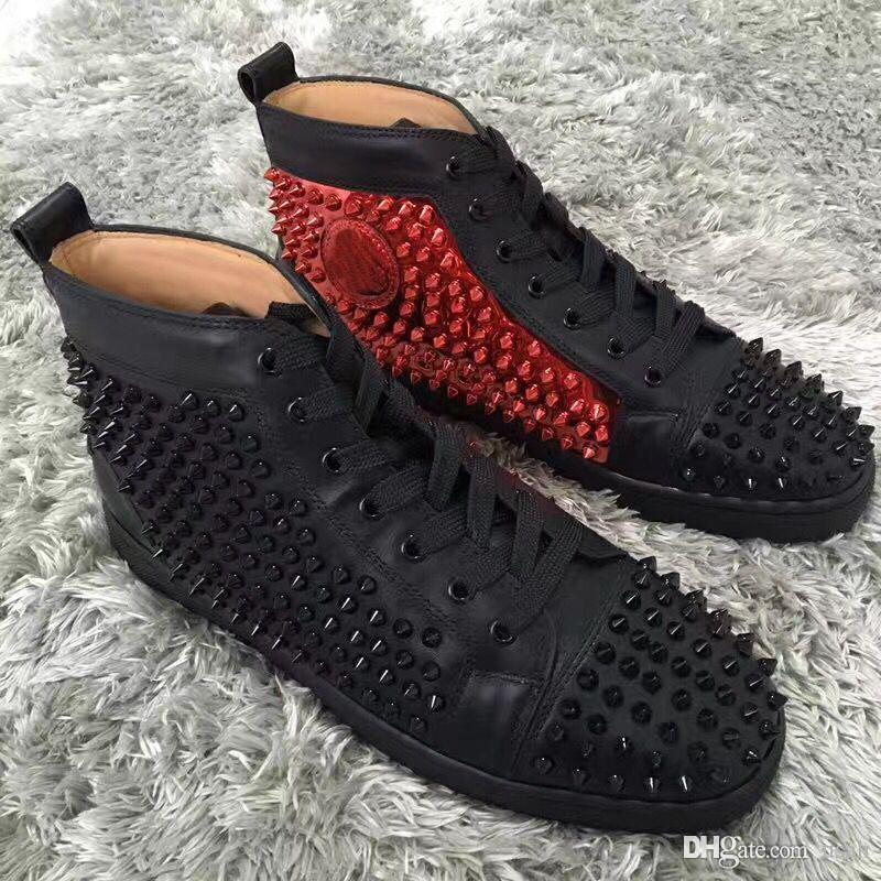 1cd52de2781 Original Red Bottom Shoes Luxury Designers Spikes Sneakers Shoe Men High  Top Louisflats OutdoorComfortable Casual Shoes Discount Shoes Mens Loafers  ...