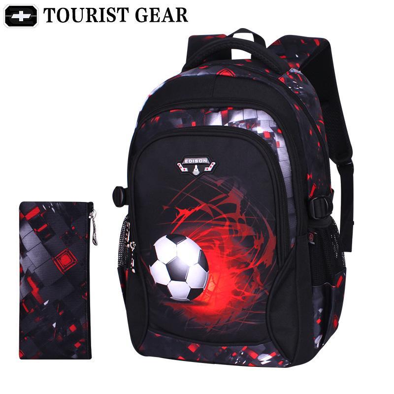 genç erkek mochila escolar infantil Menino Y200615 için baskı futbol okul çantası çocuk anime sırt çantası seyahat çantası Soccers okul çantaları