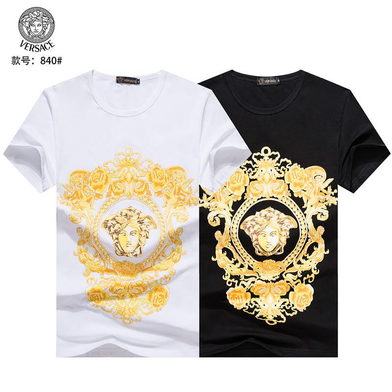 19SS 2019 verano de los hombres de la ropa superior del diseño de la nueva llegada camiseta de la medusa imprimir tamaño de la camiseta M-3XL 22028