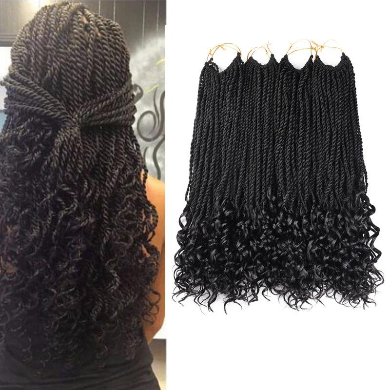 Crochet Braiding Hair Senegalese Twists Hairstyles 1Packs 18inches Crochet Hair Braids For Black Women 30strands/pack (6 colour)