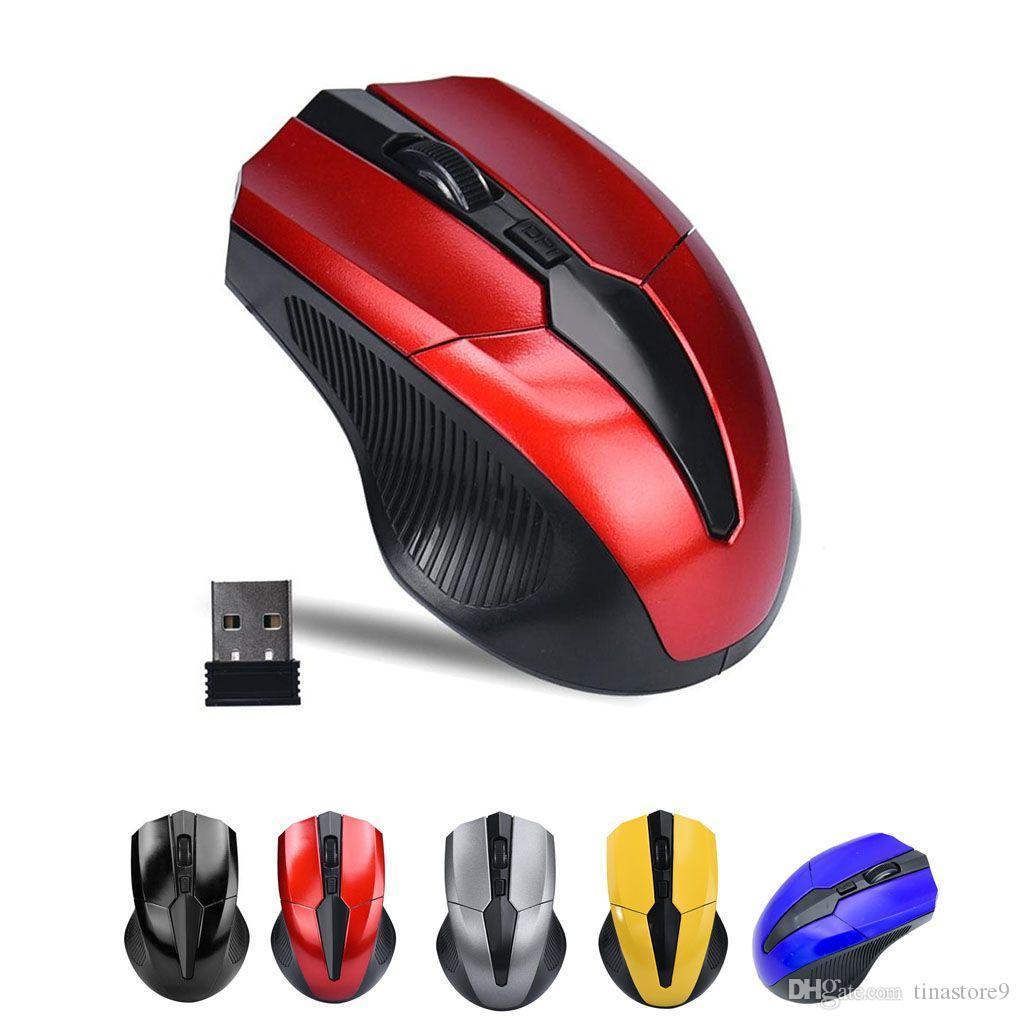 컴퓨터 PC 노트북 마우스 티나를위한 2.4G 무선 마우스 휴대용 광학 4 개 버튼 2000 DPI 인체 공학적 마우스