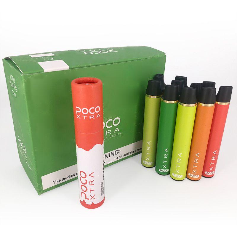 POCO Xtra descartável Dispositivo Pod Starter Kit 550mAh Battery 3,5 ml pré-cheia cartucho Pods Vape Esvaziar Pen VS Puff Bar Além disso Brilho