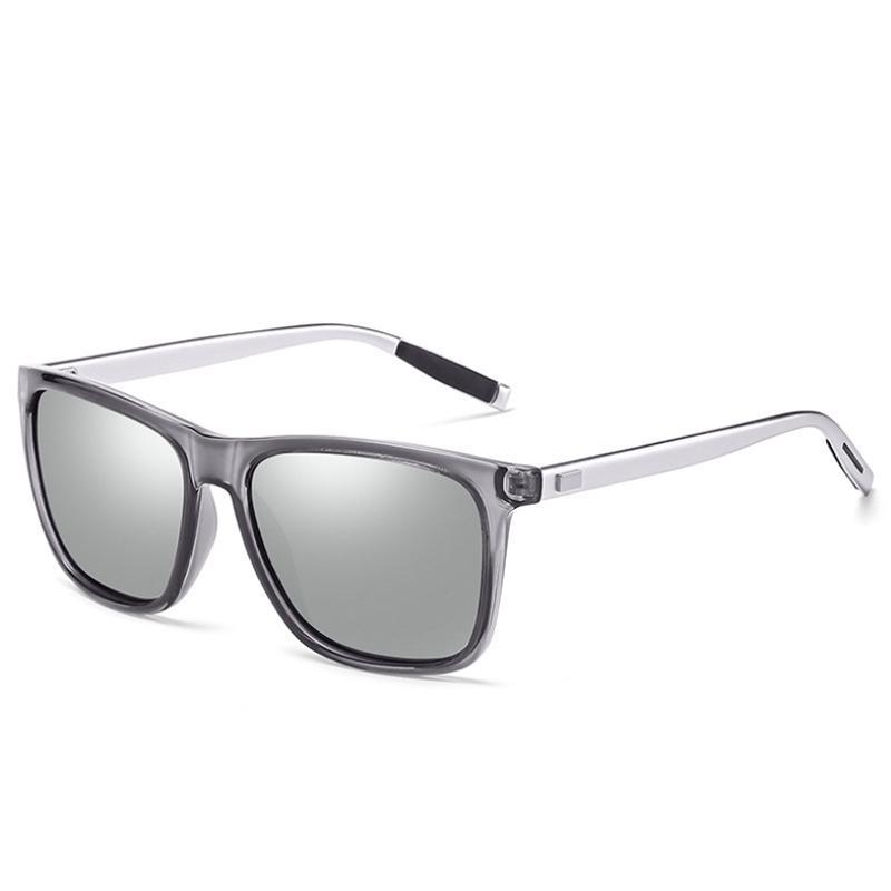Männer polarisierten Sonnenbrille TR90 Jahrgang Anti-UV-Driving-Treiber Schwarz Brille Brillen Rechteck Shades Männer Oculos masculino Männlich