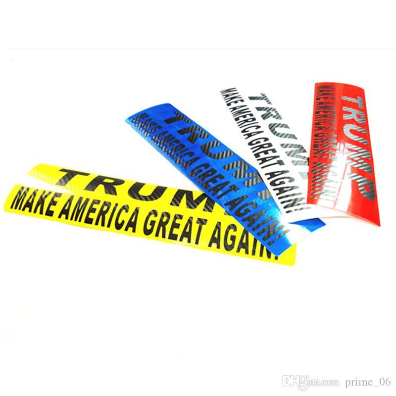 Donald Trump Bumper car stickers Trump pegatina reflectante 30 * 8cm Make America Great Decal Reflexive Wall Decor 6colors