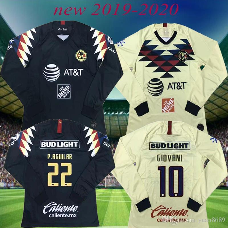 info for 1831e 50260 2019 2019 Club De Futbol America Home Soccer Jerseys 19 20 Men Away Third  Green Soccer Shirts Customized Mexico Club Long Sleeve Football Uniform  From ...