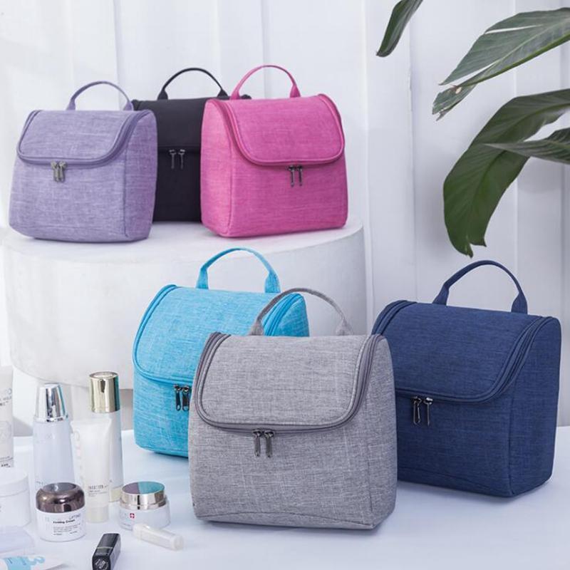 Caliente ! Nuevo diseño de 6 colores maquillaje resistente al agua cosméticos bolsas de aseo Bolsas de Viaje baño Colgando del organizador del bolso