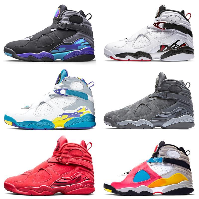 Nike Air Jordan 8 Toro Basketbol Spor Ayakkabı Kırmızı Süet Sarı Turuncu Mavi Kraliyet Serin Gri OG CDP Eğitmen Atletik Sneakers 41-47 Ücretsiz Kargo