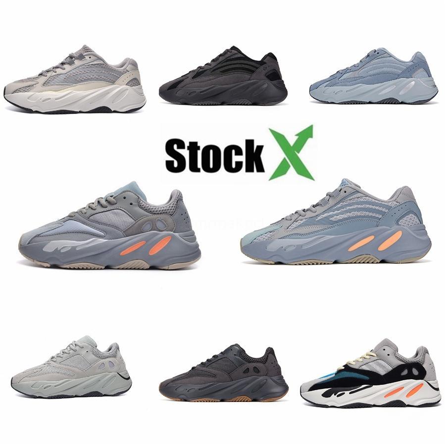 Las nuevas llegadas de diseño de los zapatos ocasionales 700 Runner malva Kanye West para hombre atlético de los zapatos Wave 700S corrientes de los deportes zapatillas de deporte de los zapatos D1 # QA594