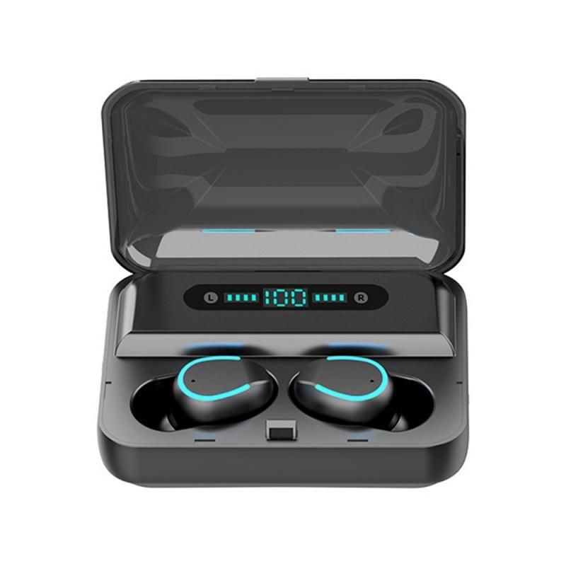 Cuffie Stereo Wireless LED auricolari Vero Wireless Auricolari display 5.0 auricolare Digital F9 TWS Bluetooth Button Auricolari touch
