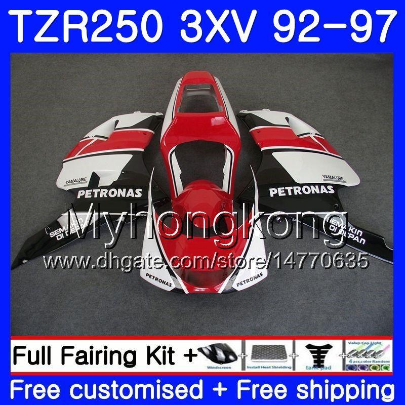 키트 검정 빨강 재고 용 YAMAHA TZR250RR 용 RS TZR250 92 93 94 95 96 97 245HM.29 TZR 250 3XV YPVS TZR 250 1992 1993 1994 1995 1996 1997 페어링