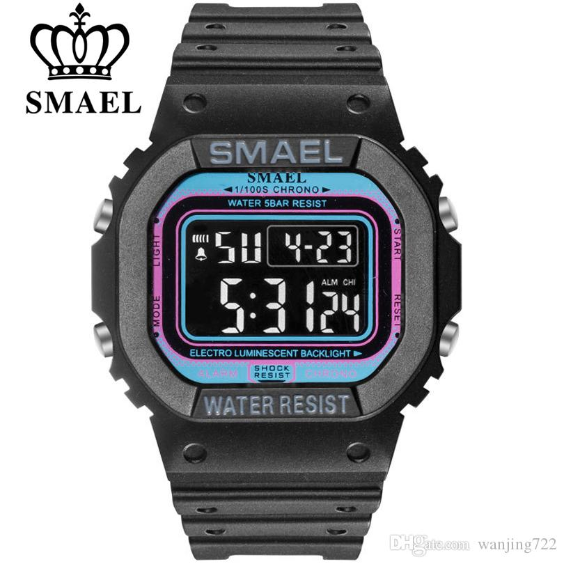 SMAEL прямоугольник цифровые часы мужчины спортивные часы военная армия камуфляж наручные часы мужчины электронные часы мужской reloj hombre